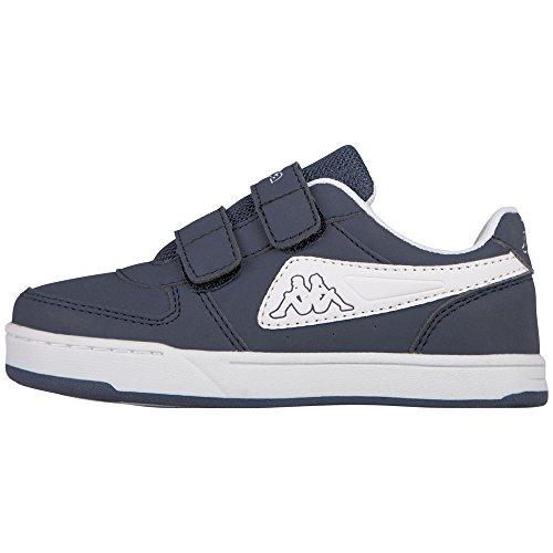 Kappa trooper light ice, scarpe da ginnastica basse unisex-bambini, blu (navy/white 6710), 35 eu
