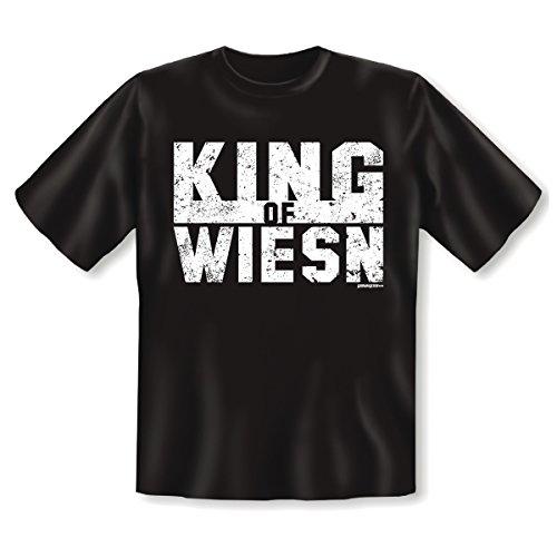 aktuelles und wichtiges T-Shirt von Goodman Design® Farbe: schwarz: KING OF WIESN Schwarz