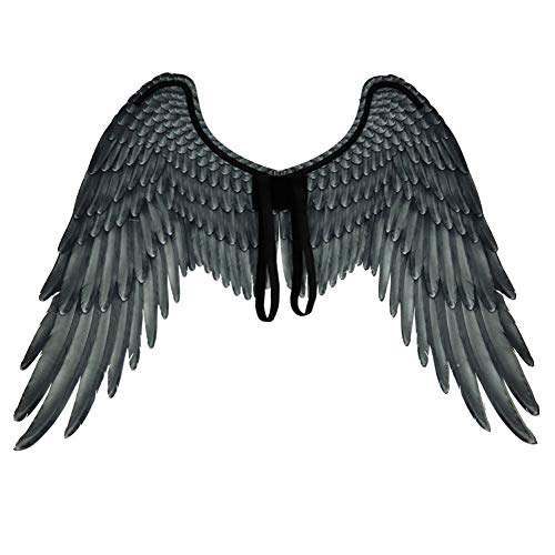 Und Weiße Männer Kostüm Schwarze - 3D Schwarz Engelsflügel Weiße Fee Flügel Kostüm Halloween Party Karneval Cosplay Flügel Für Erwachsene Männer Frauen Kinder Kinder, Halloween Dekoration Requisiten (2 Größe Verfügbar)