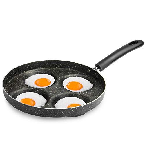 Poêle multi oeuf | Cuiseur à oeufs | Poêle à oeufs grillés et pochés pour cuisinière à gaz | Parfait pour le braconnage des œufs | M & W