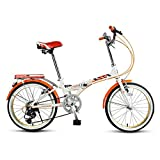 Bbhhyy Bicicletas para niños, Kids'Bikes Velocidad Variable Bicicleta Plegable Velocidad De Bicicleta Hombres Y Mujeres Estudiantes Adultos Ultraligero Portátil Mini Rueda Bicicleta Regalo