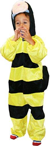Fun play costumi bambini carnevale api - onesies animale - animale bug costume 3-5 anni (110 cm)