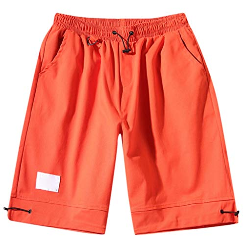 OPAKY Pantalones Cortos Hombre Bolsillo Hombre Pantalones
