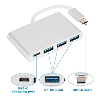 Artistic9 Type C To USB 3.0 Multiport USB-C Charging Converter Type C Hub with 3 USB 3.0 Ports for Macbook