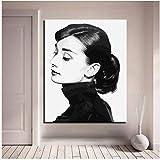 WGXCC Audrey Hepburn Porträt DIY Digitale Paintng Durch Zahlen Moderne Wandkunst Bild Leinwand Malerei Pintura Por Numeros 60X75 cm