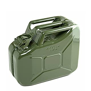 10 Litre Green Jerry Can for Fuel Petrol Diesel etc - Compact Design