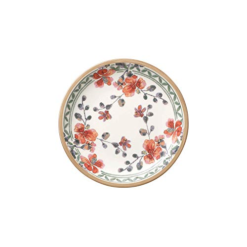 Villeroy & Boch Artesano Provencal Verdure Plato Fruta/Queso/Pan, Porcelana Premium, Blanco/Multicolor...