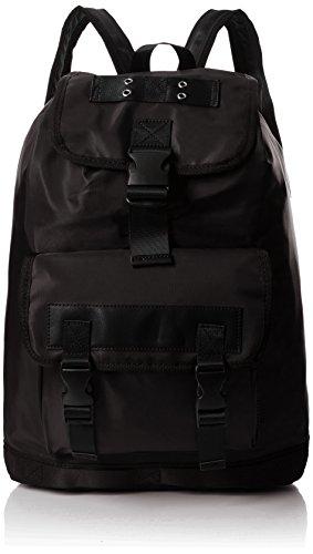 ALDO Herren Lovialian Rucksack, Schwarz (Black Leather), 14x52x33 cm