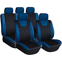 XtremeAuto® Illusion Universal Car Seat Covers (BLUE)