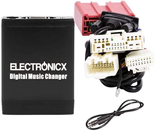 Electronicx Elec-M06-MAZ2 Interface Adaptateur autoradio MP3 USB SD AUX pour modèles de voiture Mazda 3, CX-5, CX-7 RX-8