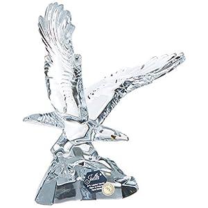 Crystaljulia Adler Figur, Bleikristall, transparent, 19 cm