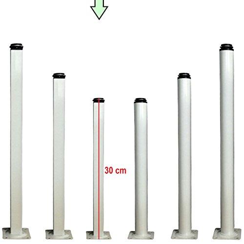 Möbelfüße verstellbar aus Metall - vielseitig einsetzbare Füße für Möbel Sofa Schrank Tisch - verschiedene Größen (30cm, Quadratisch) - Quadratische Metall-tischbeine