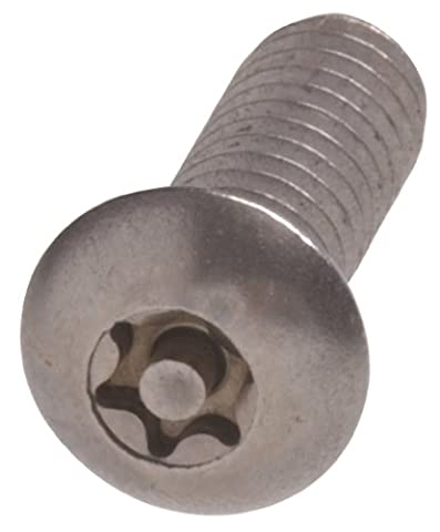 The Hillman Group 45757 1/4-20-Inch x 1/2-Inch Star Drive Button Head Machine Security Screw, Stainless Steel by The Hillman
