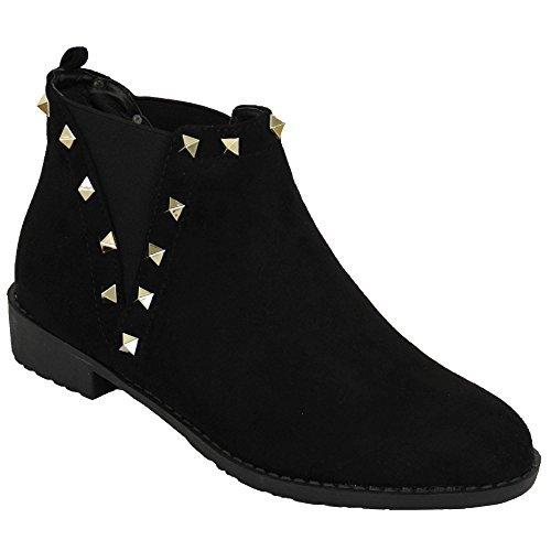 Générique Pomme Chaussures Femmes'élégant Bottes Noir - le1870