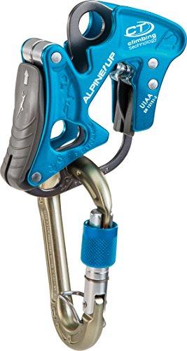 Climbing technology alpine-up moschettone assicuratore discensore multifunzione, blu