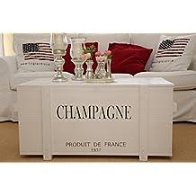 Uncle Joe´s Truhe Champagne Couchtisch Truhentisch Im Vintage Shabby Chic  Style Aus Massiv