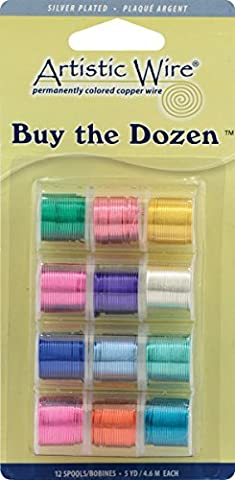 Artistic Wire Buy The Dozen Colored Wire 5 Yards 12/Pkg 24 Gauge Bright BTD-S-24