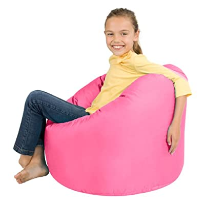 Bean Bag Bazaar® Large Childrens Bean Bags SUGAR PINK - 100% Water Resistant Indoor & Outdoor Huge Kids Bean Bag Chair