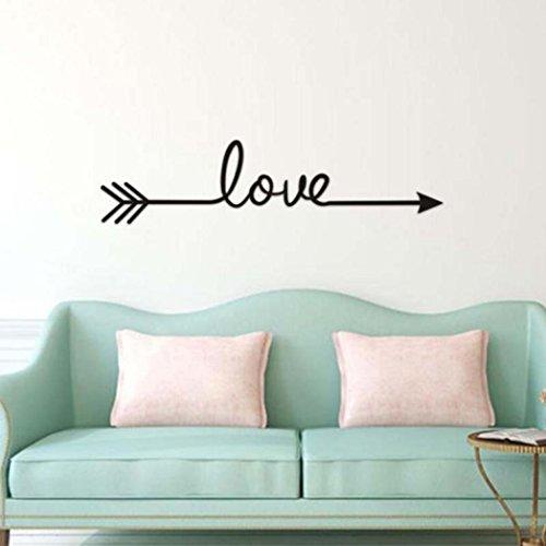 ❤️Pegatinas de pared❤️Dragon868 Vinilo amor flecha sala de estar dormitorio pared etiqueta