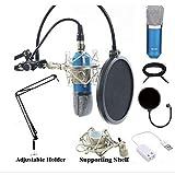 Queta Bm-800Micro à condensateur avec Ensemble de kit Mic réglable Mic Suspension Ciseaux Bras