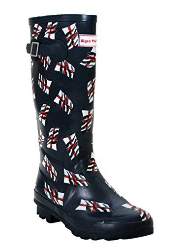 De amp; Trabalho Senhoras Inglaterra Borracha Botas Calçados H Bandeiras De Da A Meninas YgnUdYz