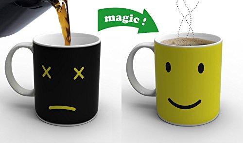 Cozyswan® Alat calidad de calor de cambio de color de taza de café, muy magia , cerámica, negro width=