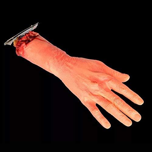 Arm Abschneiden Halloween-Stütze Mensch Fake Bloody Scary Bloody Blood Körperteile Spukhaus Blutige Gliedmaßen - Bein Stütze Kostüm