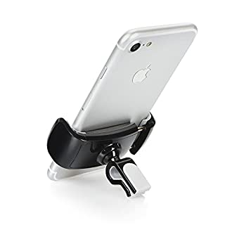 Partner Tele 360 Degree Rotating Car Air Vent Mount for 3.5 – 6 Inch iPhone X/8 Plus/7/7Plus, Samsung Galaxy S9/S8/S7 Plus, OnePlus 5T/3T – Black/Grey