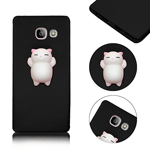 en, MingKun 3D Pinch Kneifen Soft Handyhülle für Samsung Galaxy A5 2017 A520 TPU Schutzhülle Squeeze Cartoon Cute Silikon Case Cover mit Kratzfeste Rutschfeste Handy Tasche Schale Bumper - Black Panda (Spezielle Halloween-2017)