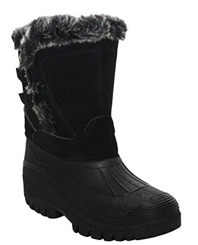 Groundwork. Womens Ladies Durable Water Resistant Snow Rain Thermal Fur Fleece Lined Winter Mud Mucker Boots UK 4-8