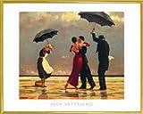 1art1 Jack Vettriano Poster Kunstdruck und Kunststoff-Rahmen - Der Singende Butler I (50 x 40cm)