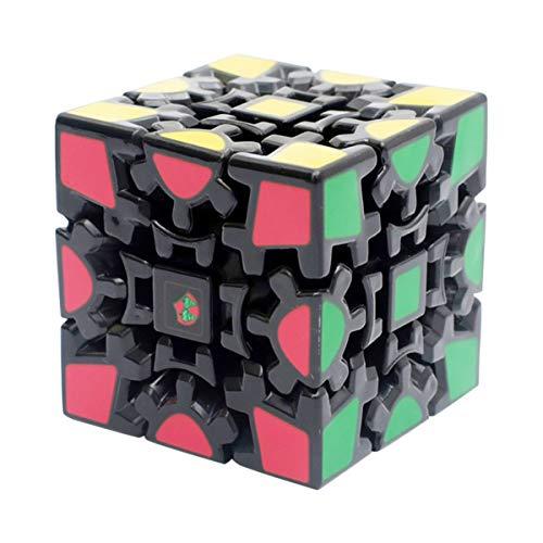 EASEHOME Zauberwürfel Gear 3x3x3 Speed Cube, Spezial Magic Puzzle Cube Zauber Würfel PVC Aufkleber für Kinder und Erwachsene, Schwarz