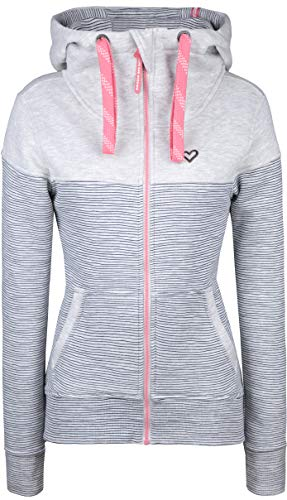 alife and Kickin PALINA Sweatjacke Damen Jacke Jacket, Cloudy Stripes, XL