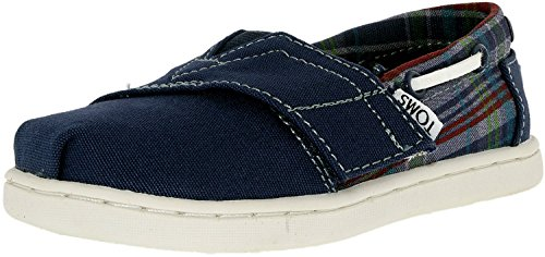 Kids Tiny Bimini - Chambray Navy Canvas Plaid