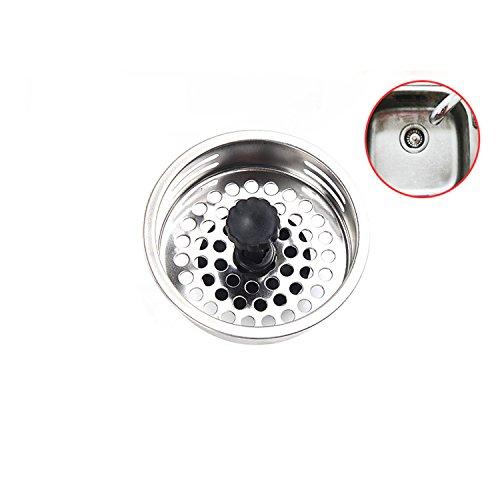 Filtro per lavello colino, con spina, Efly Premium Pelle da Cucina in acciaio inox colino per il lavello cucina o bagno