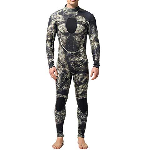 Feixunfan Neoprenanzug für Herren Herren 3MM Camouflage Neopren Taucheranzug Super Stretch Taucheranzug zum Surfen Tauchen (Color : My002, Size : S)