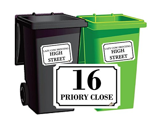 Personalised-Printed-Wheelie-Bin-Number-Stickers-with-number-and-road-Name-A6-Vinyl-Waste-Container-Decals-set-of-4-NEW-STYLE