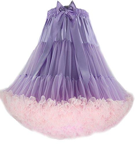 FOLOBE Adult Luxuriöse Weiche Petticoat Frauen Tutu Kostüm Ballett Tanz Mehrschichtigen Puffy Rock