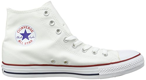 Converse Converse Sneakers Chuck Taylor All Star M7650, Unisex-Erwachsene Hohe Sneakers, Weiß (Optical White), 43 EU (9.5 Erwachsene UK) - 11