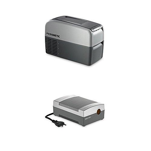 DOMETIC Waeco CoolFreeze CDF 16 - Tragbare Elektrische Kompressor-Kühlbox/Gefrierbox mit Batteriewächter, 16 Liter, 12/24 V für Auto, LKW Oder Boot + CoolPower EPS817 Netzadapter, 230 V 12 V