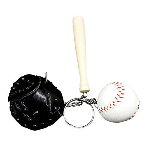 STOBOK Sport Softball Baseball Keychain Charm Anhänger Dekorative Schlüsselanhänger Tasche Anhänger (schwarz)