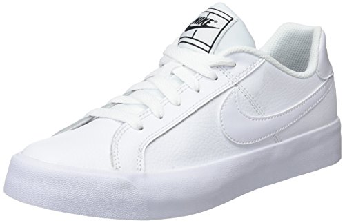 Nike Damen Court Royale AC Tennisschuhe Weiß White-Black 102, 36.5 EU