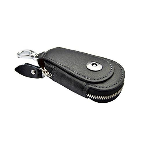MIOIM® Hombre PU Leather Llavero con Cierre de Cremallera y Bolsillos Multifunción/Impermeable Coche Regalo
