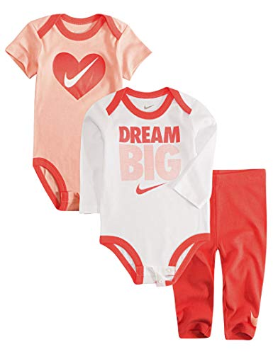 Nike Jordan Infant Newborn Baby 2 Bodysuits and 1 Pants 3 Pieces Layette Set Baby Infant Bodysuit