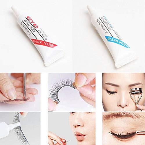 Colle à Faux Cils, KISSION Eye Lash Colle Cils Étanche Maquillage Adhésif Eye Lash Colle Outils Cosmétiques