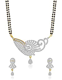 Jewels Galaxy Incredibly Designed American Diamond Mangalsutra Set