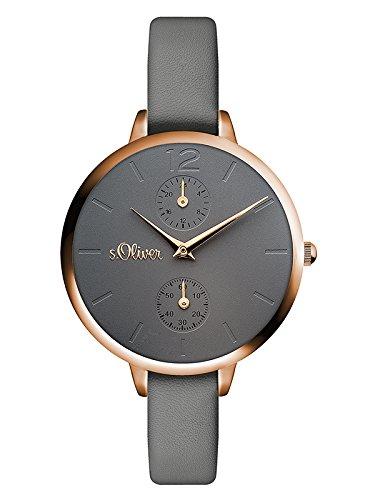s.Oliver Damen Analog Quarz Armbanduhr mit PU Armband SO-3534-LM