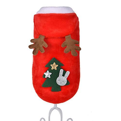 PZSSXDZW Pet Kleidung Winterkostüm Hirsch Weihnachten Neues Jahr Kostüm Weihnachtshundekleidung Red - Hirsche Und Jäger Kostüm