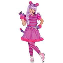Amscan Disfraz de Gato Rosado Lindo de Cheshire para Niños Medium (6-8yrs)