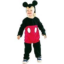 P 'tit Clown–82491–Kinder-Kostüm für Jungen–Maus schwarz/rot–92/104cm–2/3Jahre